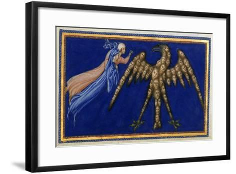 Dante and Beatrice Before the Eagle Of Justice-Dante Alighieri-Framed Art Print