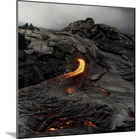 Lava Flowing From Volcano.-Fay Godwin-Mounted Giclee Print