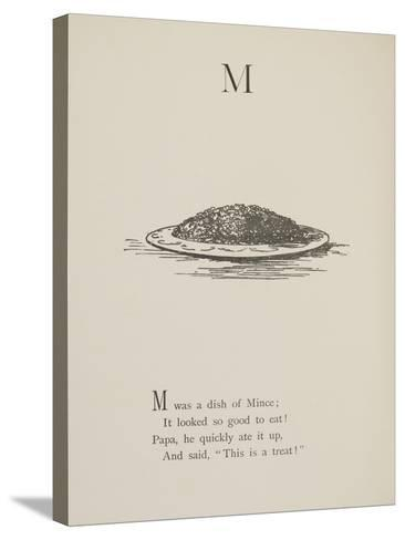 Dish Of Mince Illustrations and Verses From Nonsense Alphabets Drawn and Written by Edward Lear.-Edward Lear-Stretched Canvas Print