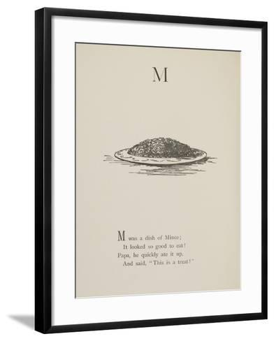Dish Of Mince Illustrations and Verses From Nonsense Alphabets Drawn and Written by Edward Lear.-Edward Lear-Framed Art Print