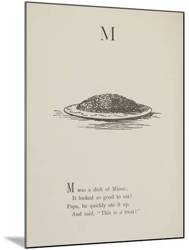 Dish Of Mince Illustrations and Verses From Nonsense Alphabets Drawn and Written by Edward Lear.-Edward Lear-Mounted Giclee Print