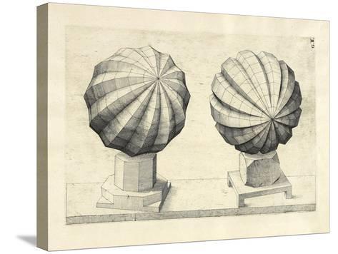 Illustration Of Sculpture. Geometric Designs Illustrating Euclidian Principles Of Geometry.-Wenzel Jamnitzer-Stretched Canvas Print