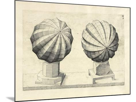 Illustration Of Sculpture. Geometric Designs Illustrating Euclidian Principles Of Geometry.-Wenzel Jamnitzer-Mounted Giclee Print