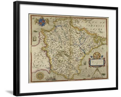 Map Of Devon-Christopher Saxton-Framed Art Print