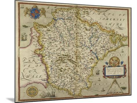 Map Of Devon-Christopher Saxton-Mounted Giclee Print