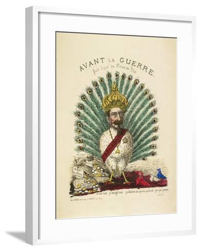 French Caricature - Avant La Guerre--Framed Art Print