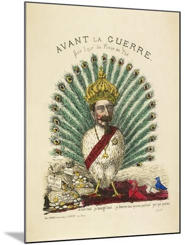 French Caricature - Avant La Guerre--Mounted Giclee Print