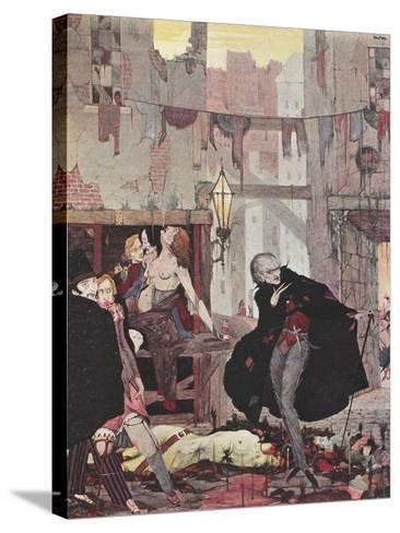 Man Of the Crowd-Harry Clarke-Stretched Canvas Print