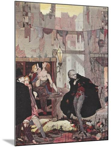 Man Of the Crowd-Harry Clarke-Mounted Giclee Print