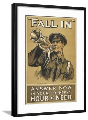 Fall In.' Answer Now in Your Country's Hour Of Need'--Framed Art Print