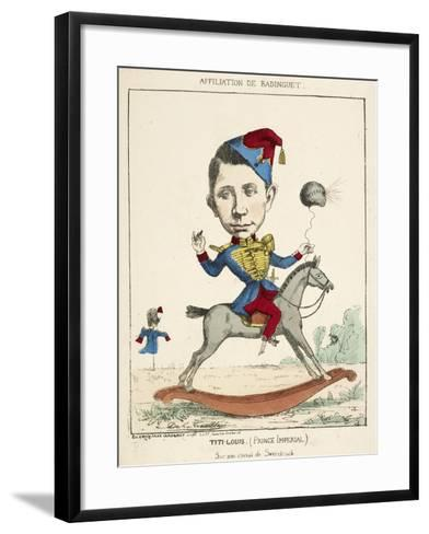 French Caricature - Titi-Louis--Framed Art Print