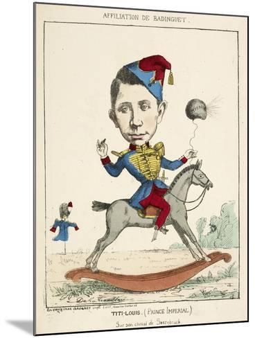 French Caricature - Titi-Louis--Mounted Giclee Print