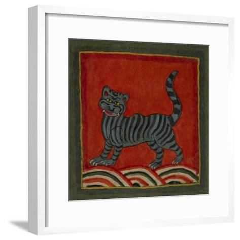 Painting Of a Member Of the Cat Family--Framed Art Print