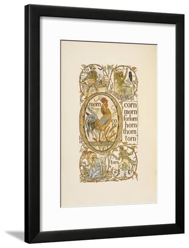 Rhyming Words Ending in the Letter N. To Illustrate the Use Of the Letter O. the Golden Primer-Walter Crane-Framed Art Print