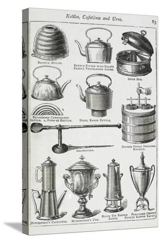Kettles, Cafetieres and Urns-Isabella Beeton-Stretched Canvas Print