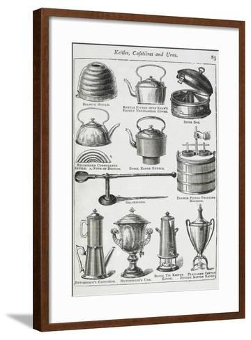 Kettles, Cafetieres and Urns-Isabella Beeton-Framed Art Print