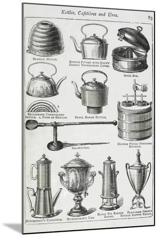 Kettles, Cafetieres and Urns-Isabella Beeton-Mounted Giclee Print
