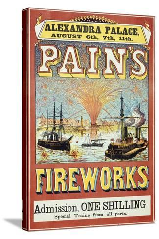 Pain's Fireworks--Stretched Canvas Print