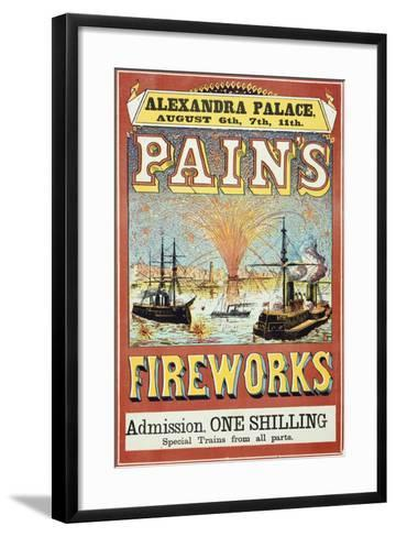 Pain's Fireworks--Framed Art Print