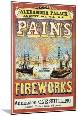 Pain's Fireworks--Mounted Giclee Print