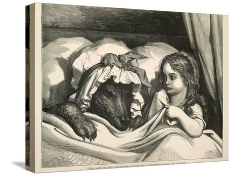 Red Riding Hood-Gustave Dor?-Stretched Canvas Print