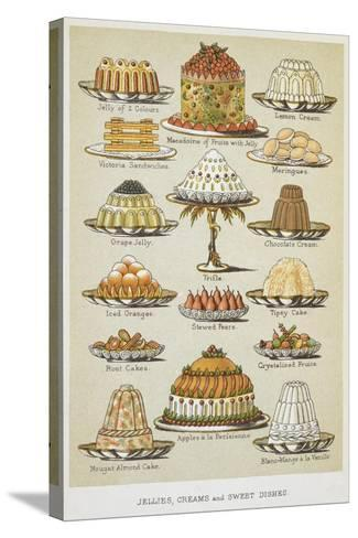 Jellies, Creams and Sweet Dishes-Isabella Beeton-Stretched Canvas Print