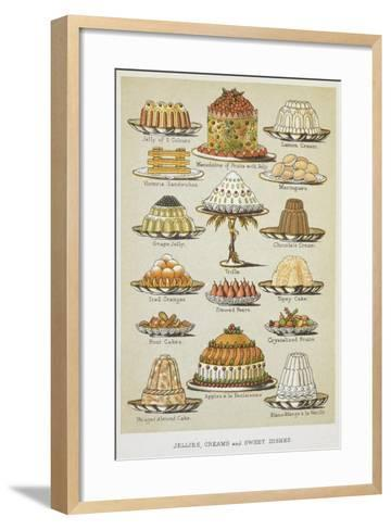 Jellies, Creams and Sweet Dishes-Isabella Beeton-Framed Art Print