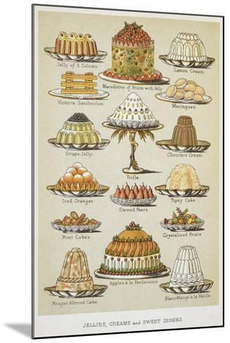 Jellies, Creams and Sweet Dishes-Isabella Beeton-Mounted Giclee Print