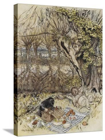 The Wind in the Willows-Arthur Rackham-Stretched Canvas Print