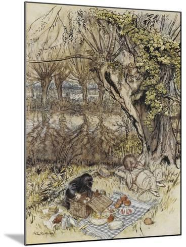 The Wind in the Willows-Arthur Rackham-Mounted Giclee Print