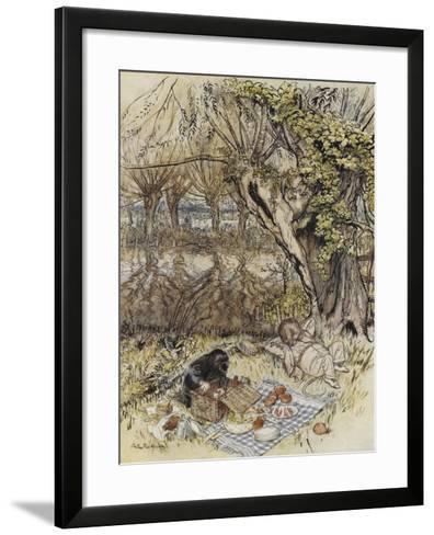 The Wind in the Willows-Arthur Rackham-Framed Art Print