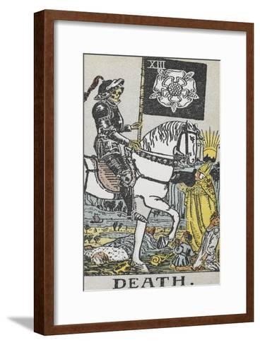 Tarot Card With Death Wearing Armor-Arthur Edward Waite-Framed Art Print