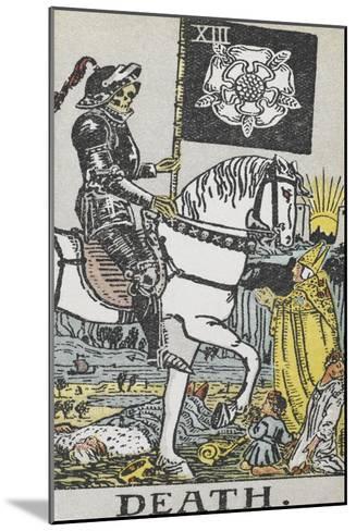 Tarot Card With Death Wearing Armor-Arthur Edward Waite-Mounted Giclee Print