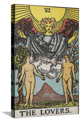 Tarot Card With a Nude Man and Woman-Arthur Edward Waite-Stretched Canvas Print