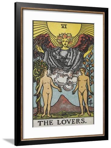 Tarot Card With a Nude Man and Woman-Arthur Edward Waite-Framed Art Print