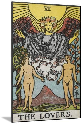 Tarot Card With a Nude Man and Woman-Arthur Edward Waite-Mounted Giclee Print