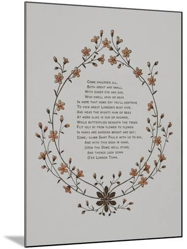 Floral Decoration and a Verse. Illustration From London Town'-Thomas Crane-Mounted Giclee Print