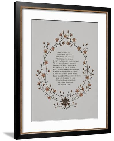 Floral Decoration and a Verse. Illustration From London Town'-Thomas Crane-Framed Art Print
