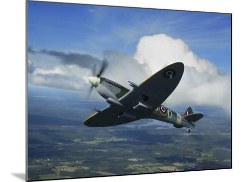 Supermarine Spitfire Mk.XVI Fighter Warbird of the Royal Air Force-Stocktrek Images-Mounted Photographic Print
