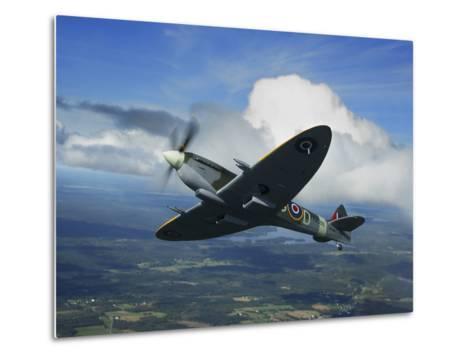 Supermarine Spitfire Mk.XVI Fighter Warbird of the Royal Air Force-Stocktrek Images-Metal Print