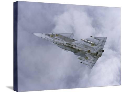 Saab JA 37 Viggen Fighter of the Swedish Air Force-Stocktrek Images-Stretched Canvas Print
