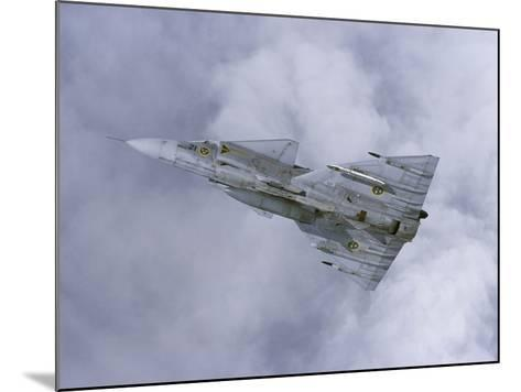 Saab JA 37 Viggen Fighter of the Swedish Air Force-Stocktrek Images-Mounted Photographic Print