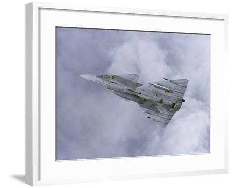 Saab JA 37 Viggen Fighter of the Swedish Air Force-Stocktrek Images-Framed Art Print