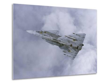 Saab JA 37 Viggen Fighter of the Swedish Air Force-Stocktrek Images-Metal Print