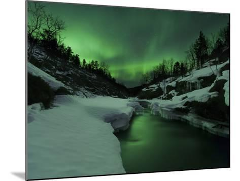 Aurora Borealis Over Tennevik River, Troms, Norway-Stocktrek Images-Mounted Photographic Print