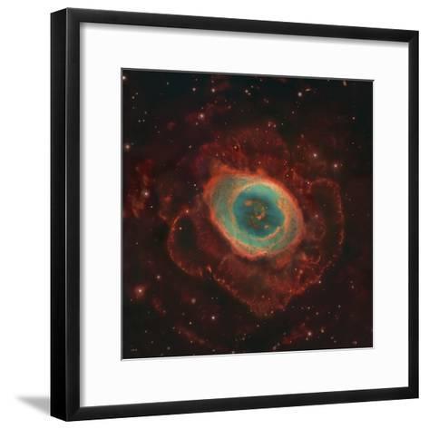 Messier 57, the Ring Nebula-Stocktrek Images-Framed Art Print