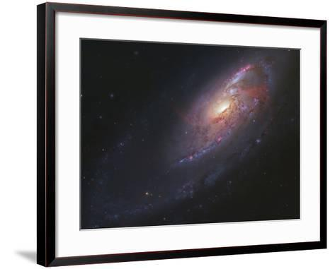 M106, Spiral Galaxy in Canes Venatici-Stocktrek Images-Framed Art Print