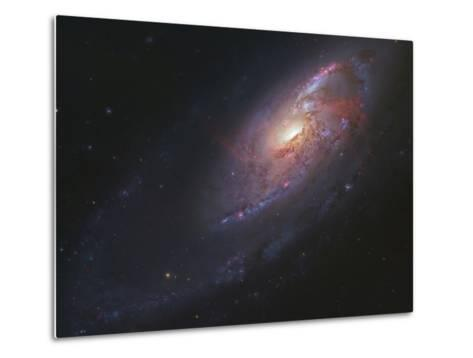 M106, Spiral Galaxy in Canes Venatici-Stocktrek Images-Metal Print