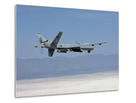 An MQ-9 Reaper Flies a Training Mission Over New Mexico-Stocktrek Images-Metal Print