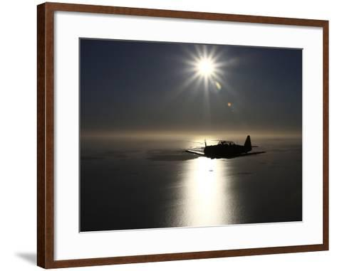 North American T-6 Texan Trainer Warbird in Swedish Air Force Colors-Stocktrek Images-Framed Art Print